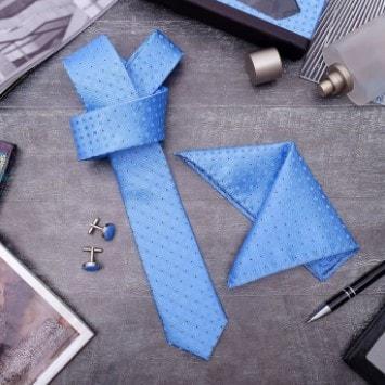 Набор платок+галстук+запонки